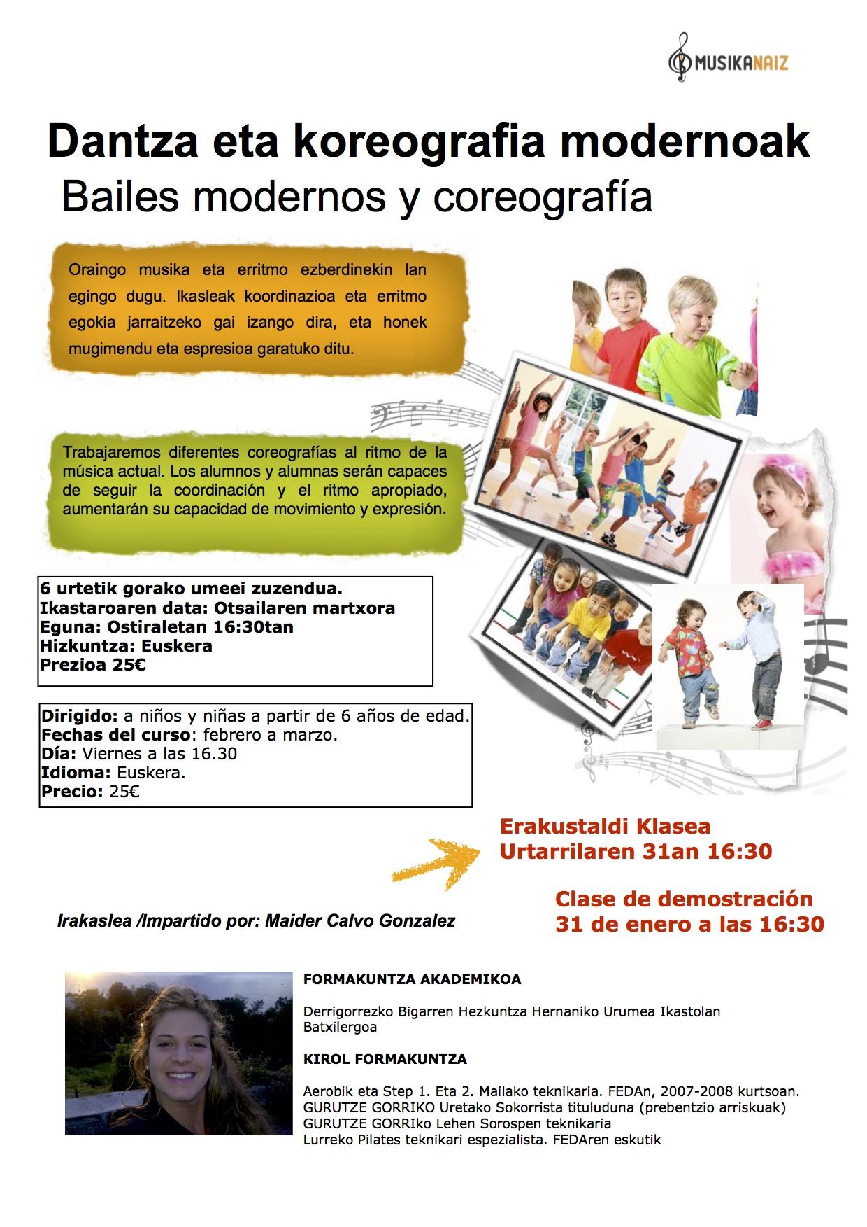 Extraescolares bailes modernos